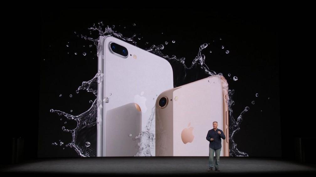 iPhone 8 e iPhone 8 Plus são anunciados nesta terça (12) (Foto: Reprodução)