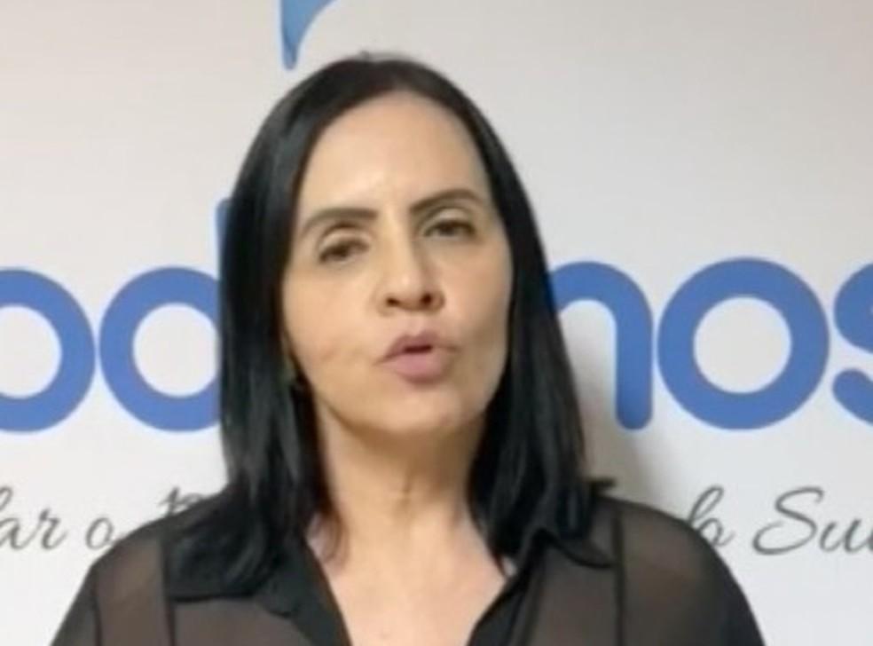 Podemos oficializou a candidatura de Sidnéia Tobias à Prefeitura de Campo Grande — Foto: Redes Sociais/Reprodução