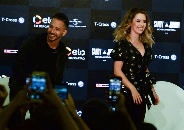 Sandy e Junior anunciam em São Paulo datas da turnê 'Nossa História' (Foto: Divulgação)
