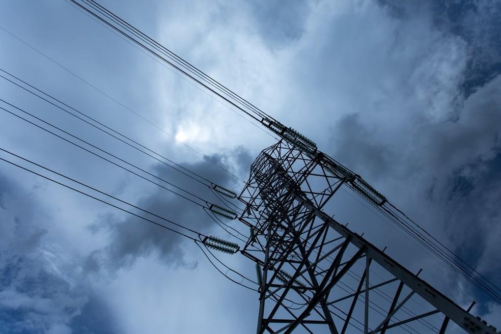 Linha de Transmissão de energia da Eletropaulo, em São Paulo. (Foto: Marcelo Brandt/G1)