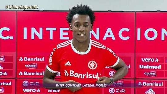 """Moisés é apresentado e diz que volta ao Inter mais maduro: """"Resposta virá em campo"""""""