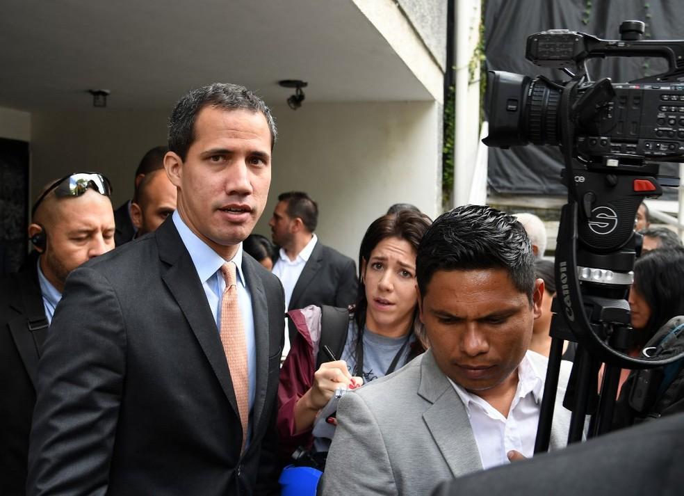 Juan Guaidó em Caracas, no dia 15 de janeiro de 2020 — Foto: Yuri Cortez/ AFP