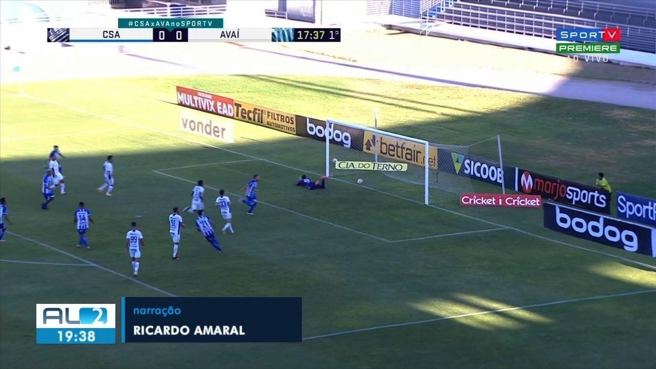 Confira os gols do jogo CSA x Avaí