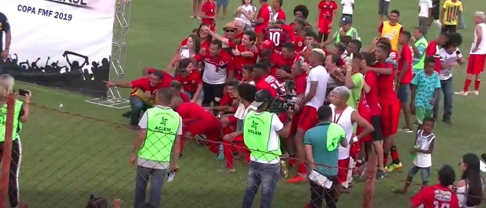 Juventude campeão da Copa FMF 2019 — Foto: Reprodução / TV FMF