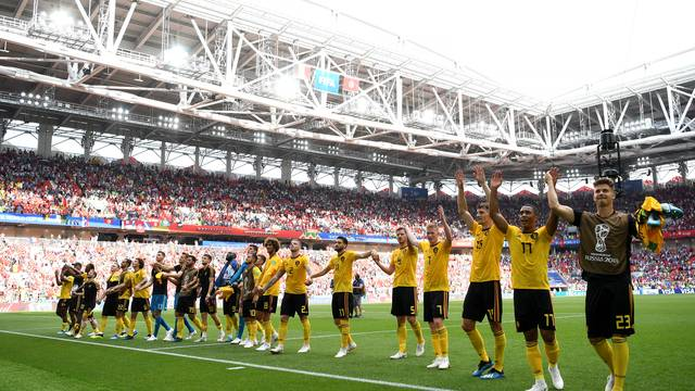 Bélgica celebra vitória sobre a Tunísia