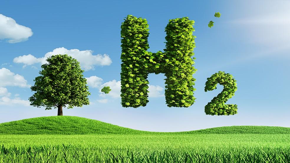 O hidrogênio tem três vezes mais energia do que a gasolina e não libera gases poluentes — Foto: ISTOCK por BBC