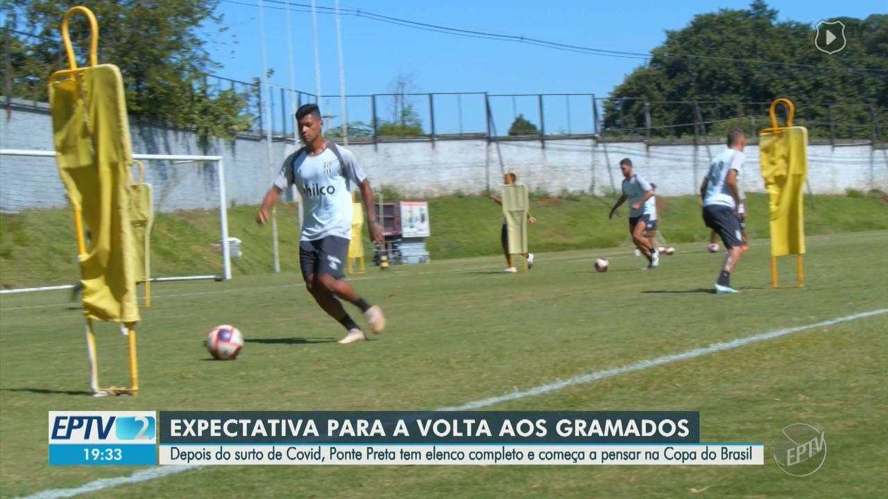 Mesmo com jogos suspensos, Ponte Preta segue com ritmo de treinos em Campinas