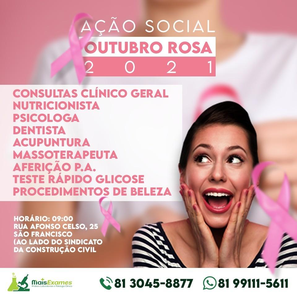 Laboratório realiza ação do outubro rosa no bairro São Francisco, em Caruaru
