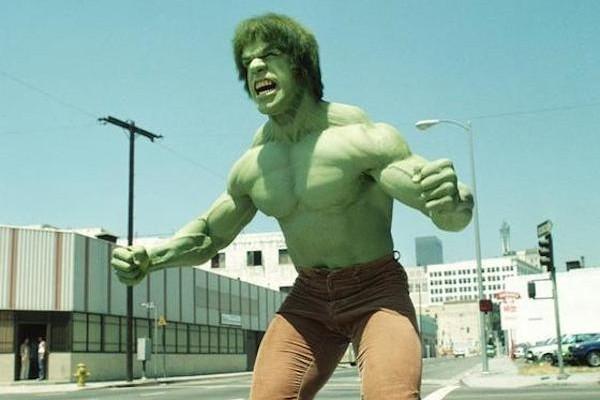 O ator Lou Ferrigno no papel do herói Hulk (Foto: Reprodução)