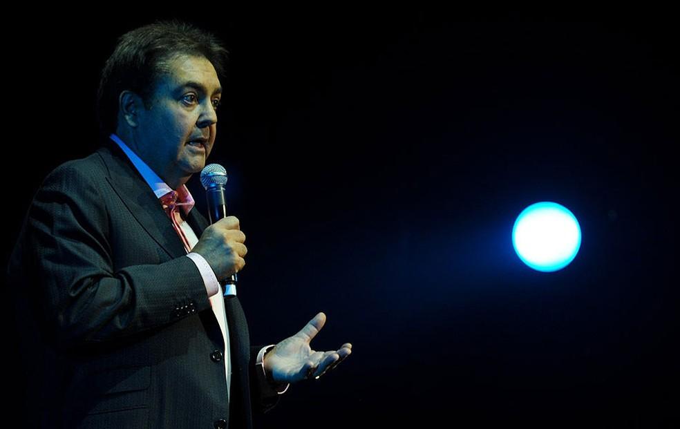 O apresentador Fausto Silva (Foto: Flavio Moraes/G1)