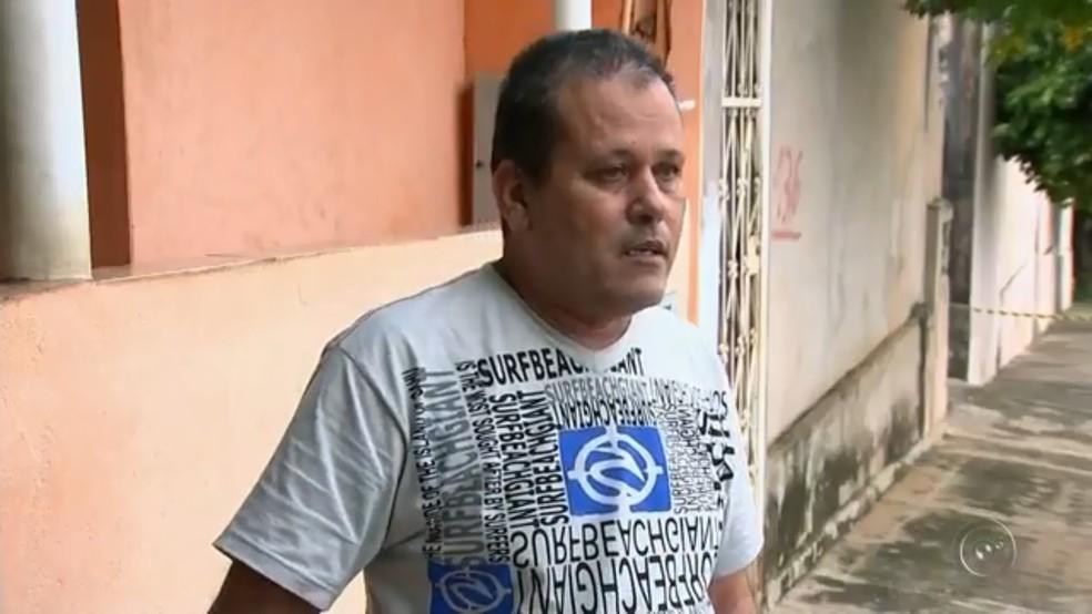 Irmão de agressor tentou socorrer a cunhada após o crime em Lins (Foto: Reprodução/TV TEM )