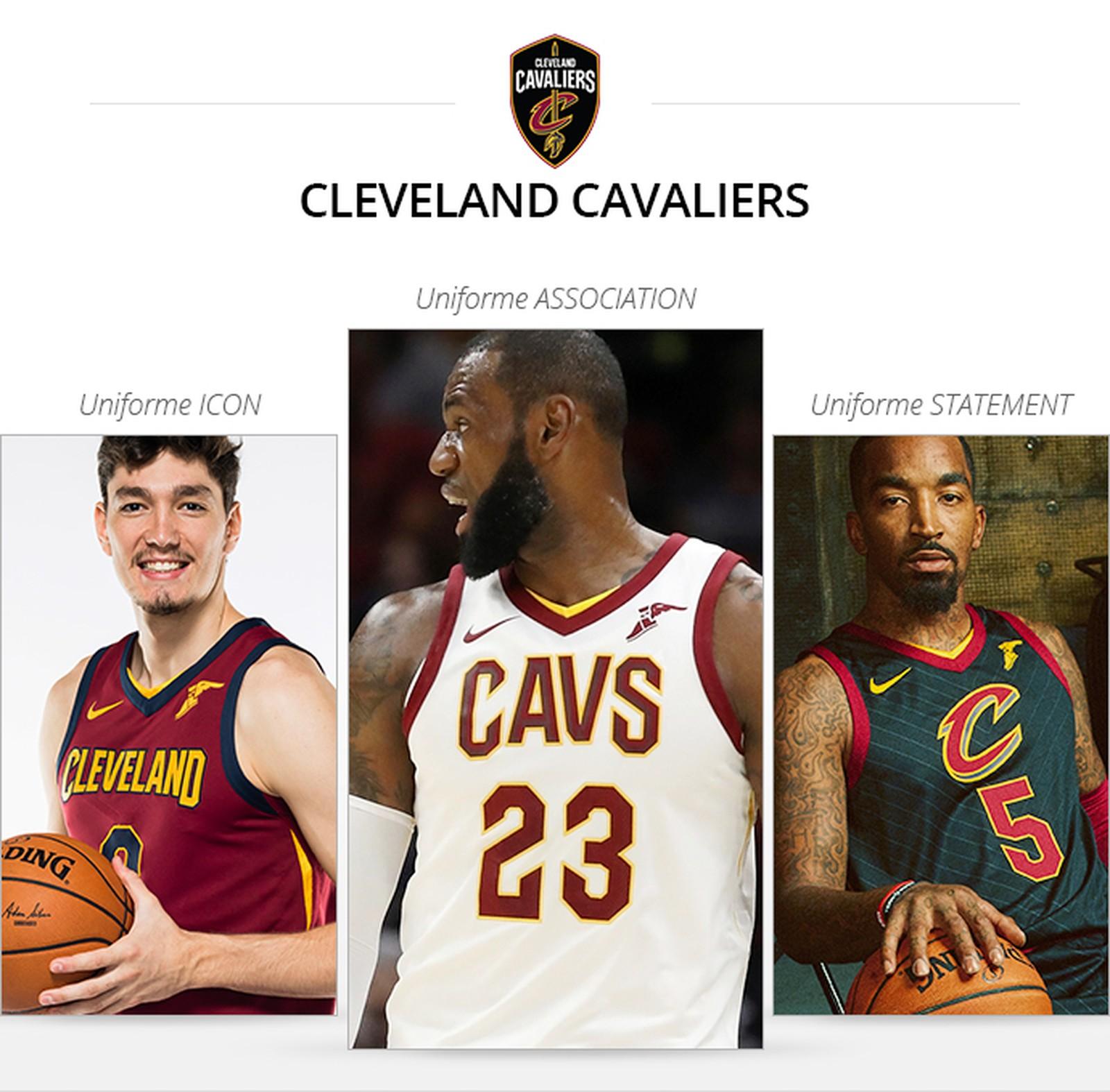 Uniformes Cleveland Cavaliers saison 2017/18