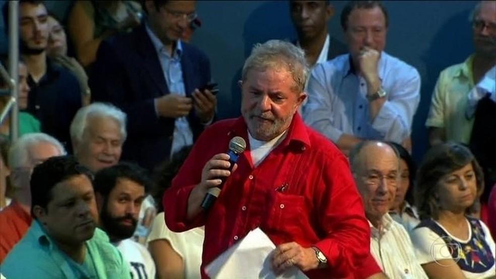 O ex-presidente Luiz Inácio Lula da Silva — Foto: Reprodução/JN