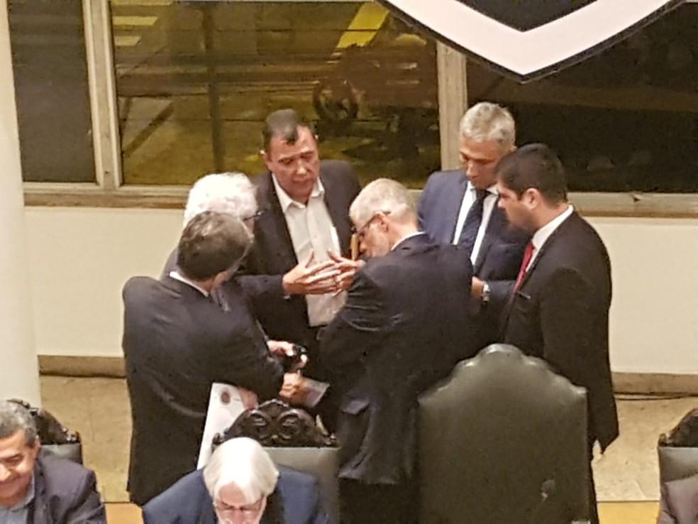 Presidente Alexandre Campello esteve presente — Foto: Marcelo Baltar