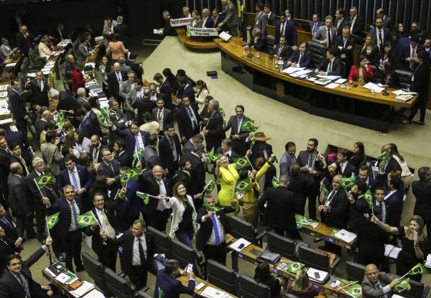 Plenário da Câmara durante votação da reforma da Previdência (Foto: Fabio Rodrigues Pozzebom/Agência Brasil)