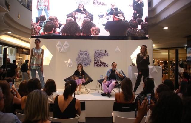Silvia Rogar e Renta Garcia durante o VFNO 2018 em Brasília (Foto: Gabriel Ramos)
