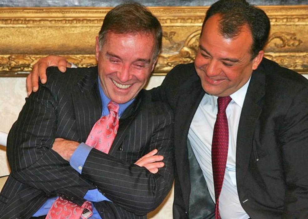 Eike Batista e Sérgio Cabral foram condenados na Operação Eficiência, desdobramento da Lava Jato no Rio (Foto: Fábio Motta/Ae (2008))