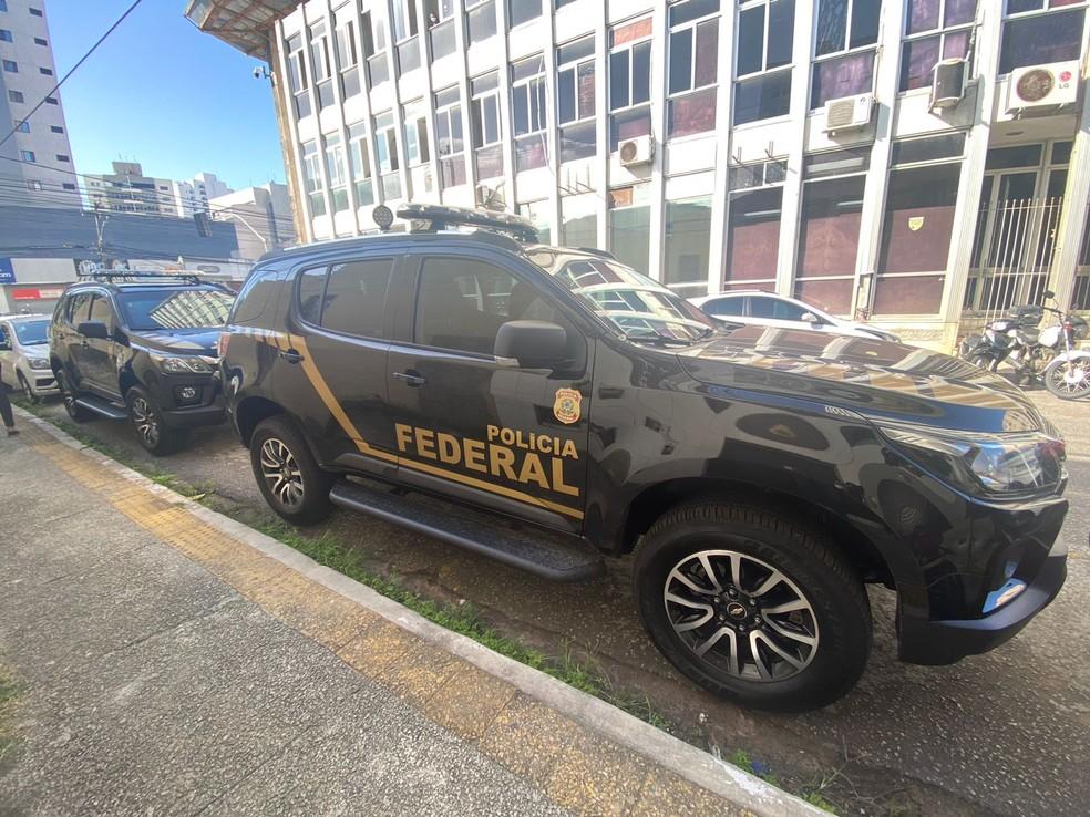 Operação da PF e CGU cumpre mandados de busca na Sesap e investiga contratos de UTI Covid — Foto: Kléber Teixeira/Inter TV Cabugi