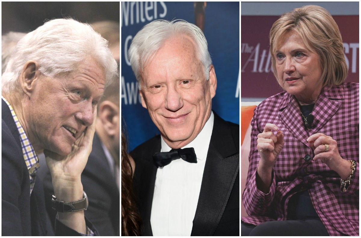 Bill Clinton, James Woods e Hillary Clinton (Foto: Getty)