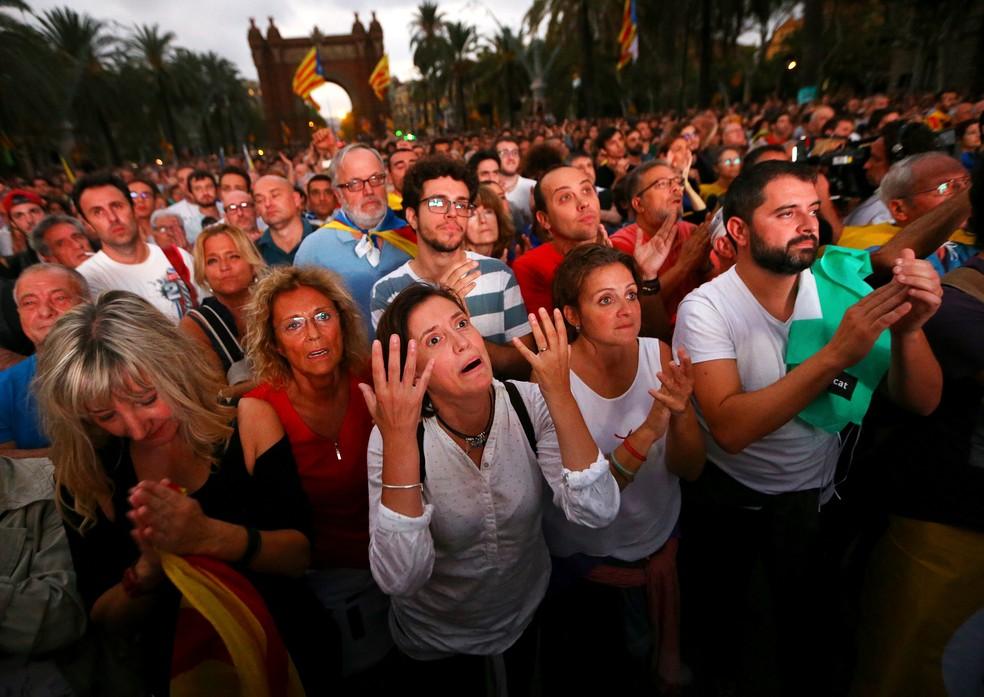 -  Movimentos nos Estados Unidos, no Canadá, no Chile e até no Brasil se animaram com as notícias do apoio popular ao referendo da Catalunha  Foto: REUT