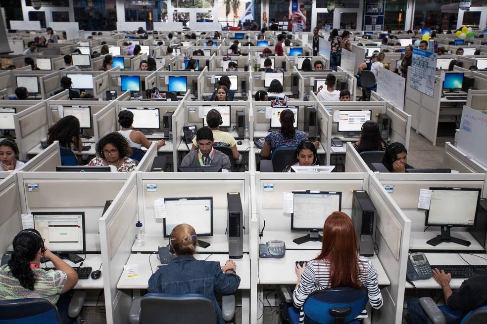Empresa de telemarketing — Foto: Algar Tech/ Divulgação