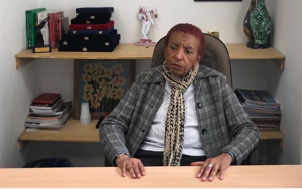 Deputada Leci Brandão, do PCdoB, segunda mulher negra a compor a Assembleia de SP — Foto: Lívia Machado/G1