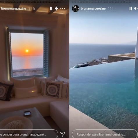 Vista do quarto do hotel em que Bruna Marquezine está hospedada (Foto: Reprodução Instagram)