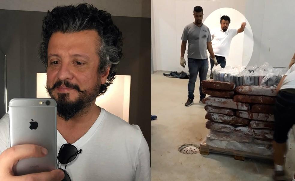 Eduardo Oliveira Cardoso, de 43 anos, foi flagrado escondendo cocaína em carga de frango — Foto: Reprodução