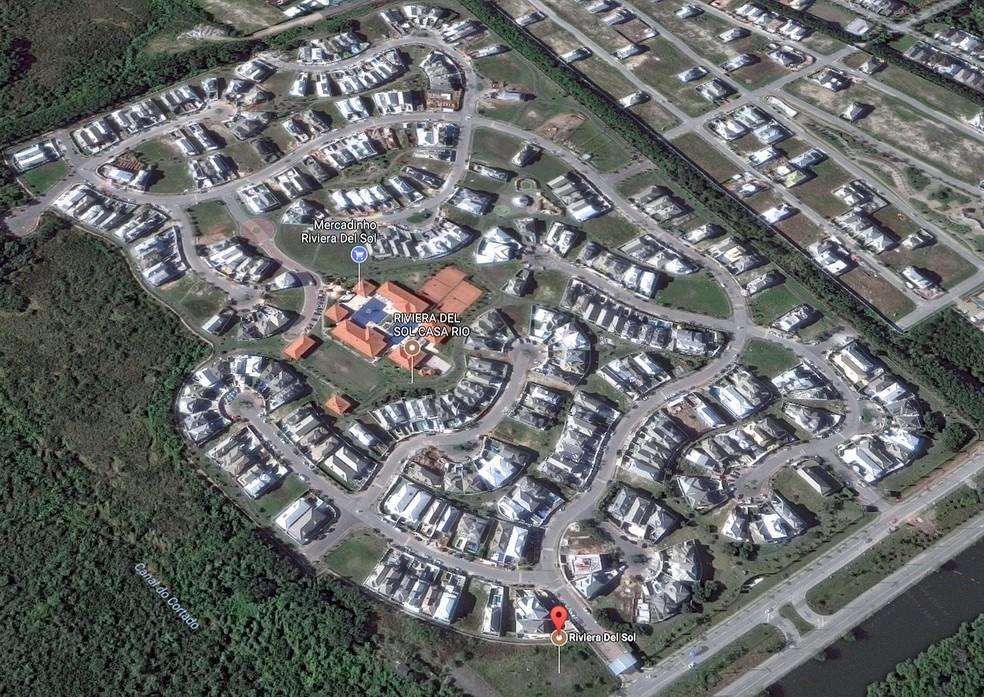 Condomínio Riviera Del Sol fica na Zona Oeste do Rio (Foto: Reprodução/Google Maps)