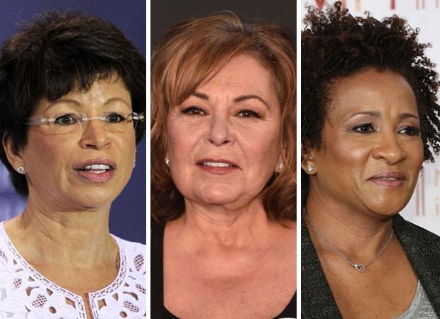 Valerie Jarrett, Roseanne Barr e Wanda Sykes: sitcom cancelado após ataque racistas de Roseanne (Foto: Getty Images)