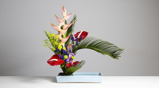 SP tem exposição sobre arte japonesa de fazer arranjos florais  (Foto: Divulgação )