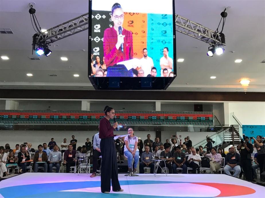 Rede lança pré-candidatura de Marina Silva à Presidência da República