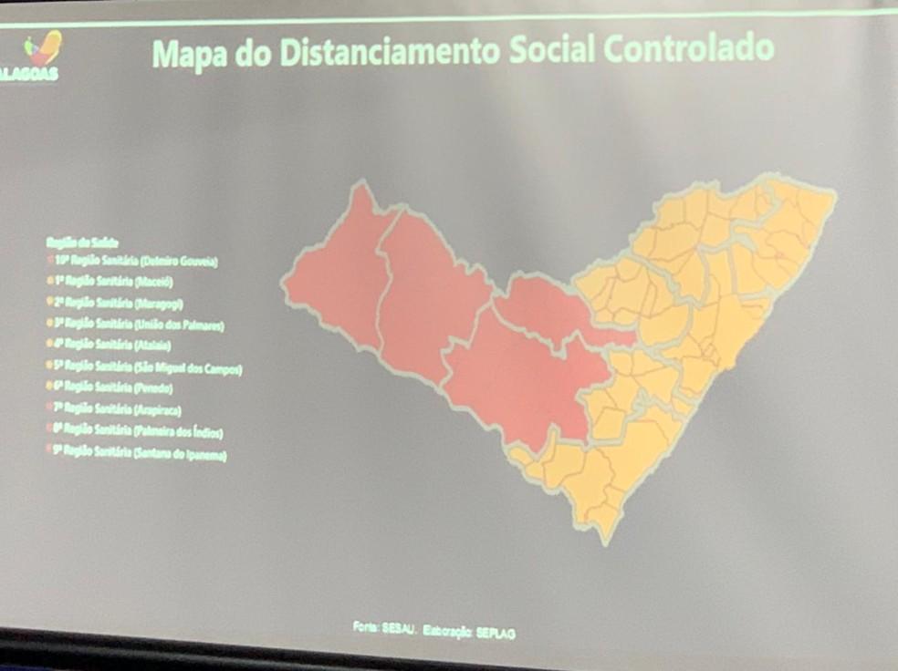 Sertão e Agreste de Alagoas estão na fase vermelha, demais regiões mudam para fase laranja do distanciamento social — Foto: Ragi Torres/TV Gazeta