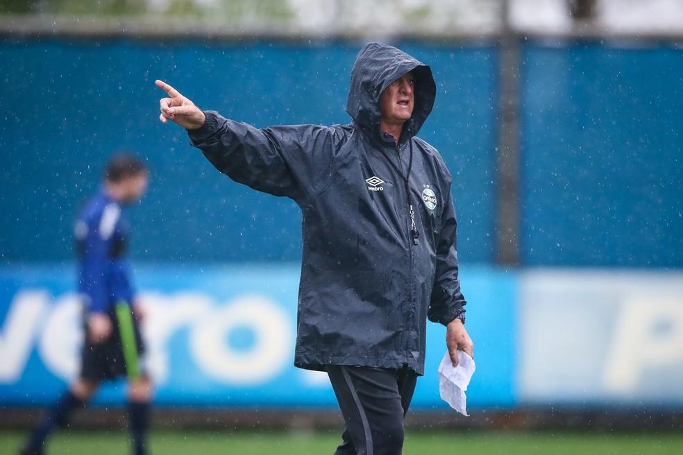 Felipão, técnico do Grêmio — Foto: Lucas Uebel/Grêmio
