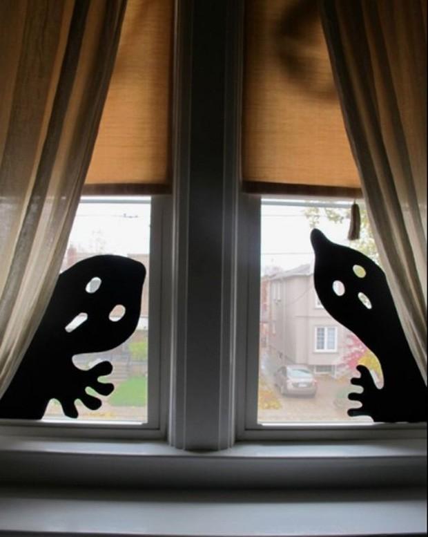 Halloween: Sombra de papel para janela (Foto: Pinterest/Reprodução)