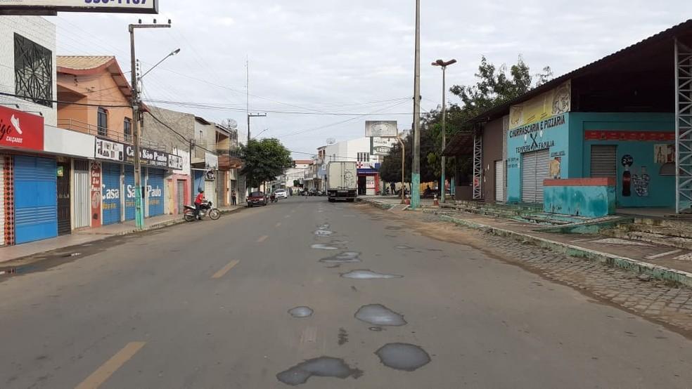 O decreto vale em Catarina, no Ceará, a partir desta sexta (5). — Foto: Prefeitura de Catarina/Reprodução