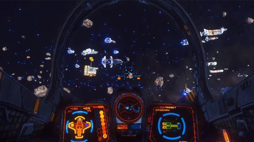 Rebel Galaxy Outlaw permite explorar o espaço sideral e viver sua própria aventura — Foto: Reprodução/Steam