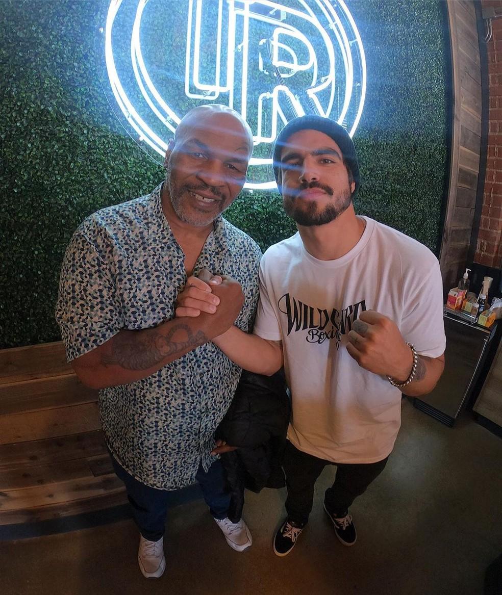 Caio Castro com o consagrado Mike Tyson — Foto: Reprodução/Instagram