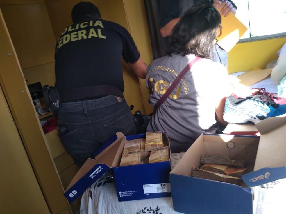 Operação da PF cumpriu 12 mandados nesta quarta-feira no Ceará — Foto: Divulgação