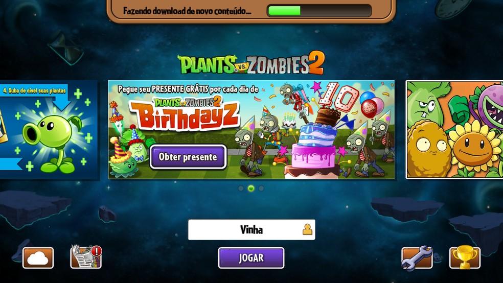 Plants Vs Zombies 2 comemora 10 anos da série — Foto: Reprodução/Felipe Vinha