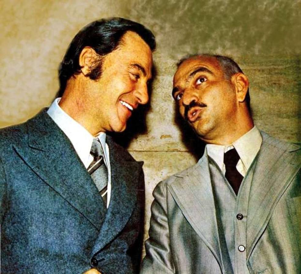 Leonardo Villar e Lima Duarte em 'Os Ossos do Barão', de 1973 — Foto: Acervo/TV Globo