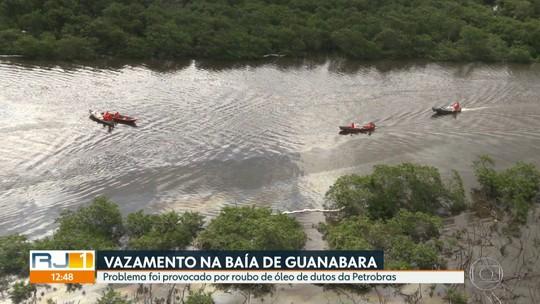 Óleo que vazou em rio da Baixada Fluminense já foi 75% recolhido, diz Petrobras
