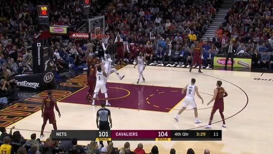 LeBron explode no último quarto, Cavs superam os Nets e vencem a sexta seguida