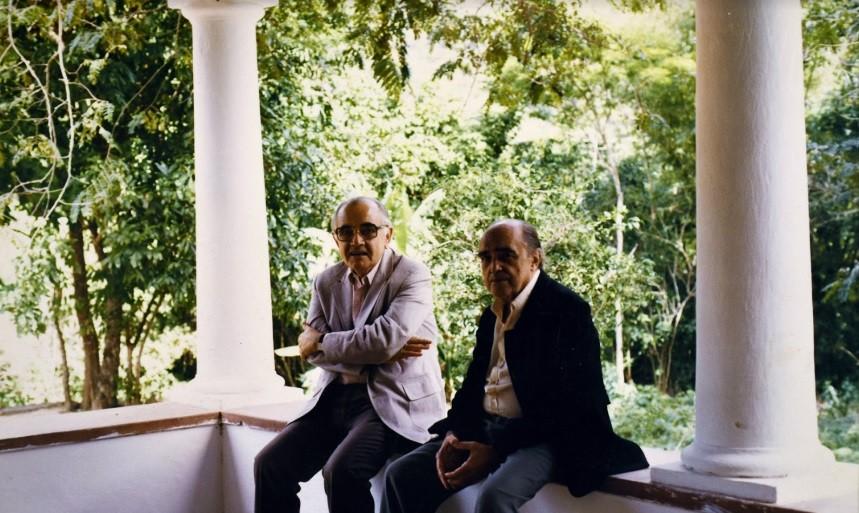 Athos Bulcão e Oscar Niemeyer (Foto: Fundação Athos Bulcão / Divulgação)