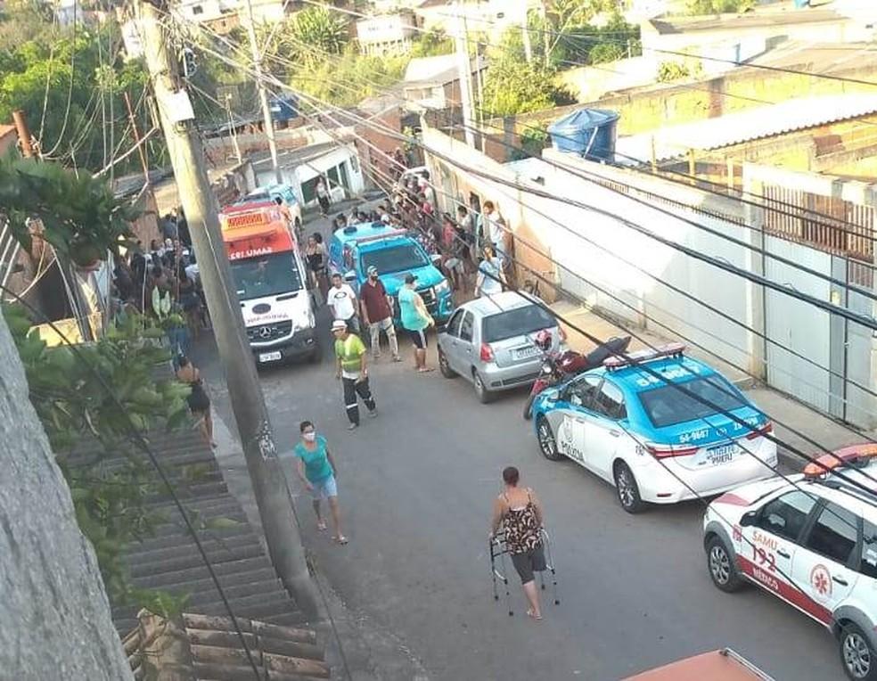 Troca de tiros termina com baleados em Volta Redonda — Foto: Redes Sociais