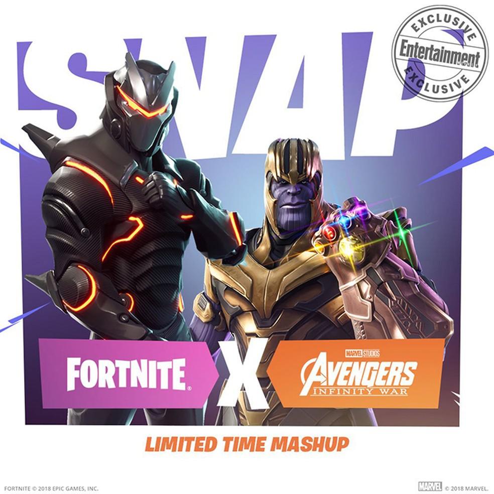 Thanos fará participação épica em Fortnite em evento especial (Foto: Divulgação/Epic Games)