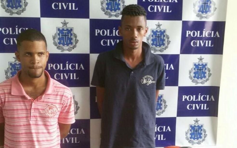 Rodrigo Oliveira de Andrade e Geovani da Silva Lago foram presos por latrocínio na Bahia (Foto: Divulgação / Polícia Civil)