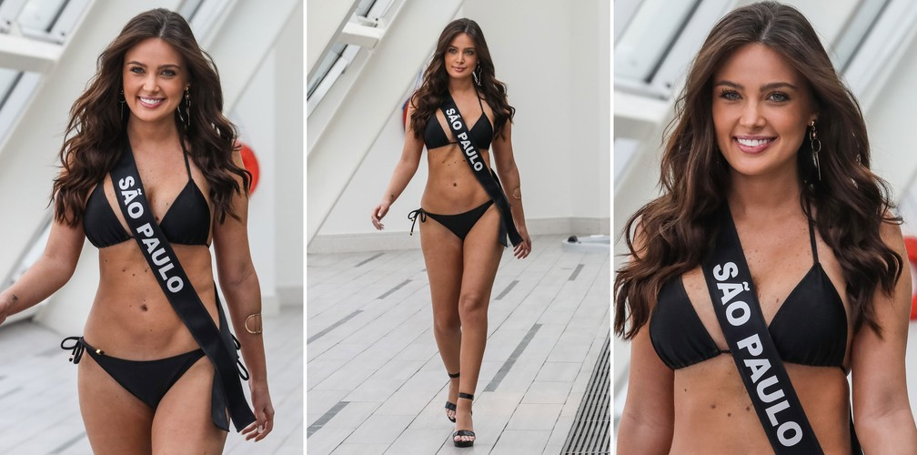 A Miss São Paulo Capital, Danielle Carvalho de Barros Vasconcellos, de 25 anos, candidata a Miss São Paulo 2018 (Foto: Fábio Tito/G1)