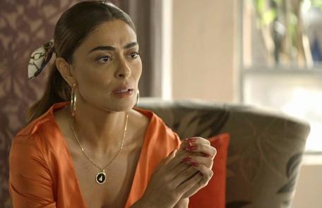 Na sexta (30), Maria da Paz pedirá que Rock e Téo (Rainer Cadete) lhe ajudem a dar uma lição em Josiane Reprodução