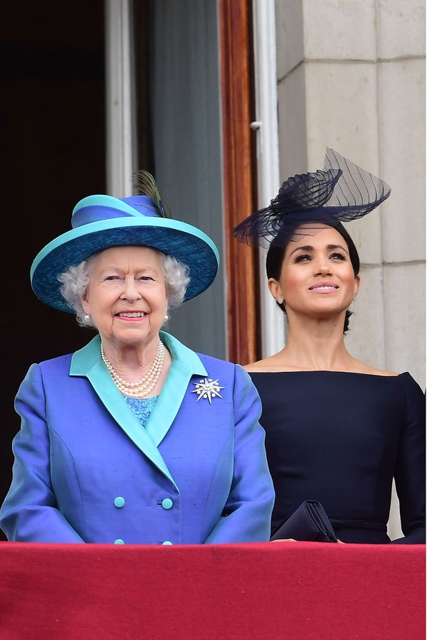 Rainha Elizabeth II e Meghan Markle (Foto: Getty Images)